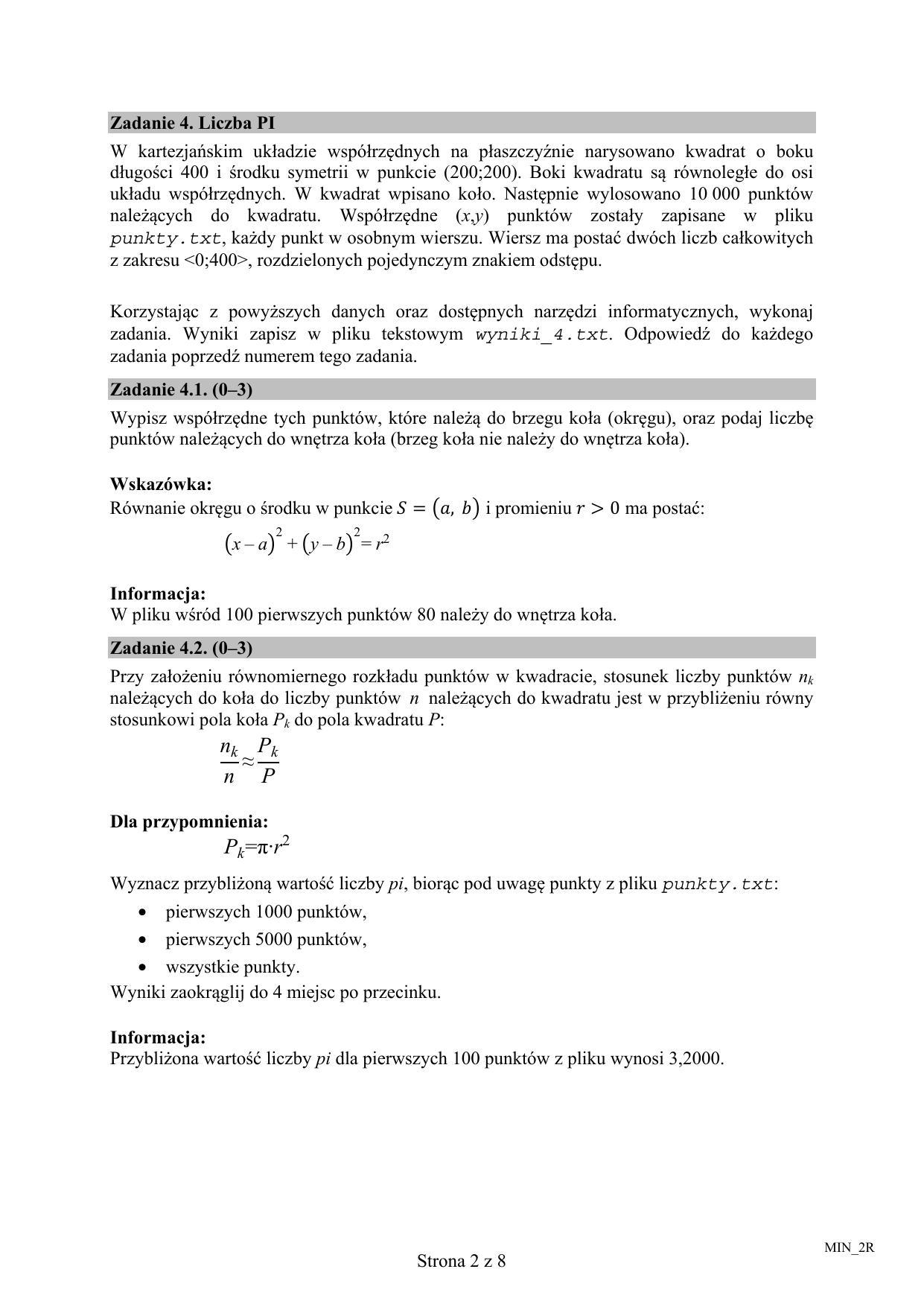 matura 2010 informatyka odpowiedzi